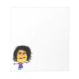 Crazy Woman Cartoon Notepad