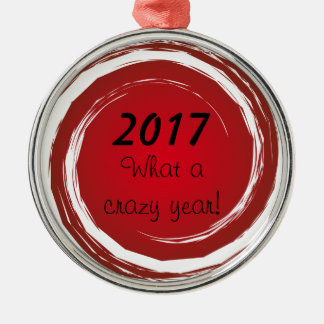 Crazy Year Red Polka Dots Swirling Sun Circles Christmas Ornament