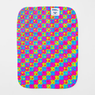 Crazy Yellow and Pink Pattern Burp Cloth
