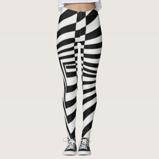 Crazy Zebra Stripes Yoga Element Leggings
