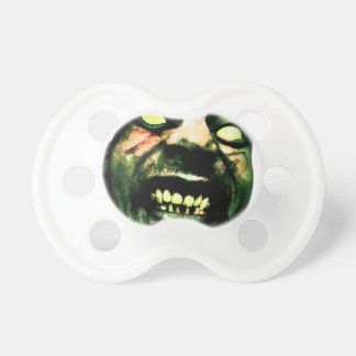 Crazy Zombie Man Face Baby Pacifier
