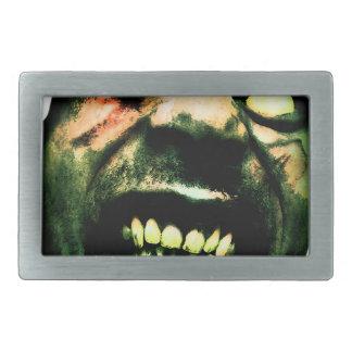 Crazy Zombie Man Face Belt Buckle