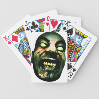 Crazy Zombie Man Face Bicycle Playing Cards