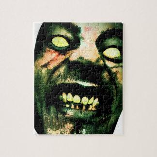 Crazy Zombie Man Face Jigsaw Puzzle