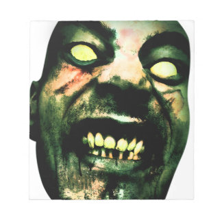 Crazy Zombie Man Face Notepad
