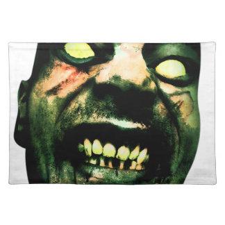 Crazy Zombie Man Face Placemat