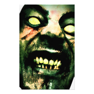Crazy Zombie Man Face Stationery