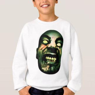 Crazy Zombie Man Face Sweatshirt