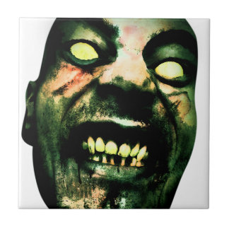 Crazy Zombie Man Face Tile