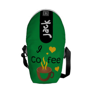 Crazydeal p721 I love coffee cool crazy creative Commuter Bags