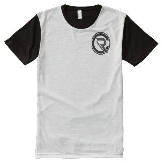 CRC Men's Black/Gray T Shirt All-Over Print T-Shirt