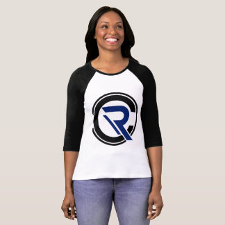 CRC Women's 3/4 Sleeve Black Raglan T-Shirt