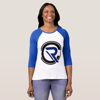 CRC Women's 3/4 Sleeve Blue Raglan T-Shirt