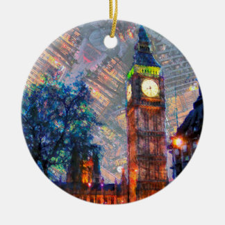 Crcle Ornament-Big Ben Christmas Ornament