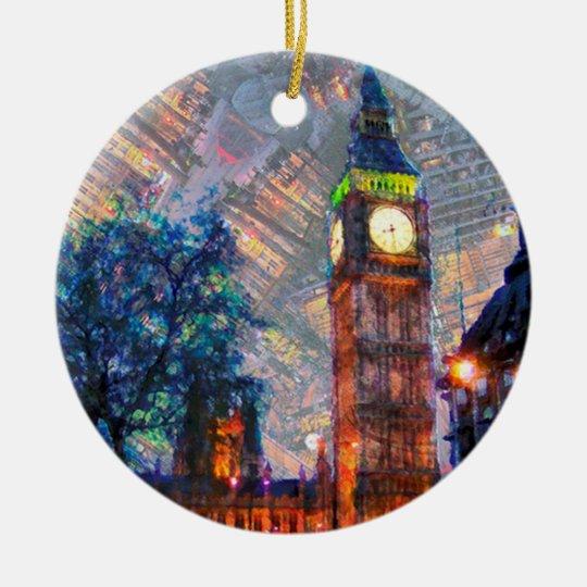 Crcle Ornament-Big Ben Christmas Ornament