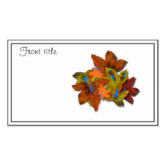 Cre8tive Fall Leaves Double-Sided Standard Business Cards (Pack Of 100)