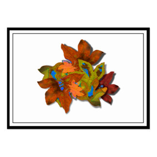 Cre8tive Fall Leaves Pack Of Chubby Business Cards
