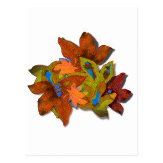 Cre8tive Fall Leaves Postcard