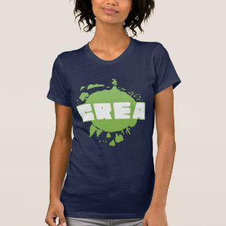 Crea logo - women's navy tshirt