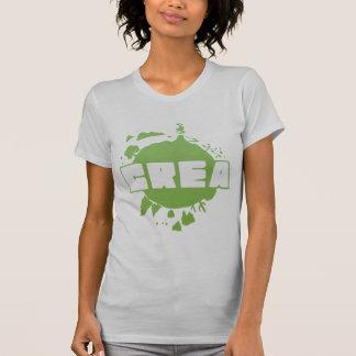 Crea logo - women's silver tshirt