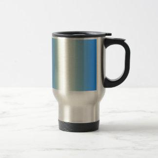 Cream and Azure Gradient Coffee Mugs