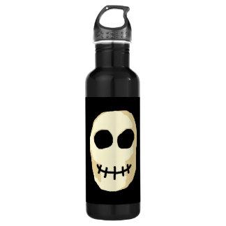 Cream and Black Skull. 710 Ml Water Bottle