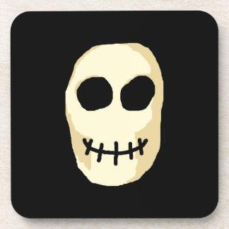 Cream and Black Skull. Coaster
