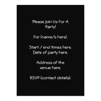 Cream and Black Skull. Primitive Style. Personalized Invites