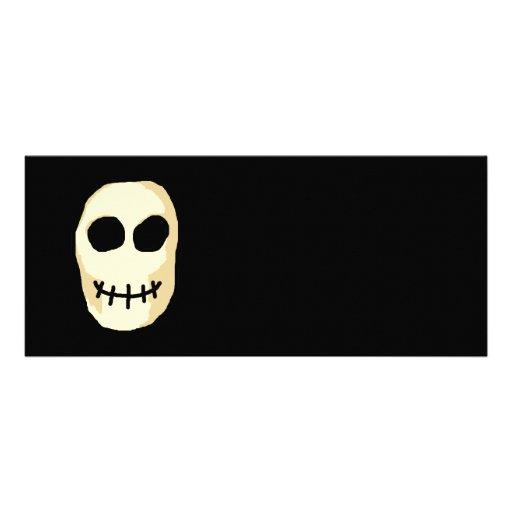 Cream and Black Skull. Primitive Style. Custom Invite