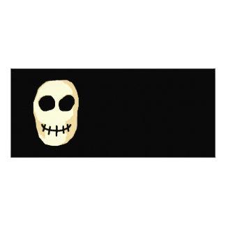 Cream and Black Skull Primitive Style Custom Invite