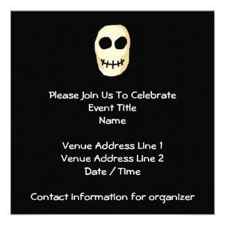Cream and Black Skull Primitive Style Invitations