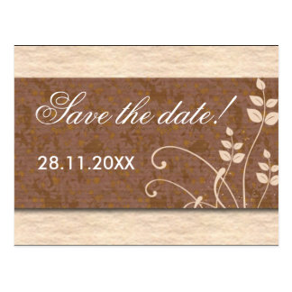 Cream And Chocolate Save The Date Postcard