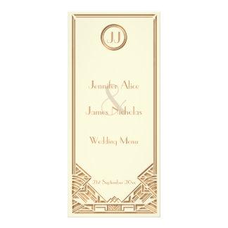Cream and Gold Art Deco Gatsby Style Wedding Menu