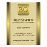 """Cream and Gold Plate 4.5"""" x 5.6"""" Accountant Flyers"""
