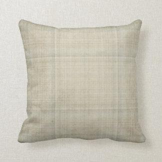 cream and gray plaid throw pillows