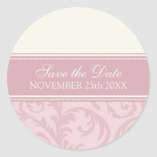 Cream and Pink Save the Date Envelope Seal