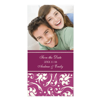 Cream and Pink Save the Date Wedding Photo Cards
