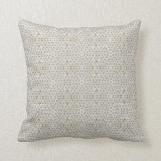 Cream and White grungy pattern Throw Pillow