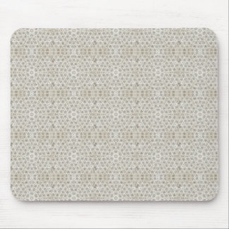 Cream and White grungy pattern Mousepads