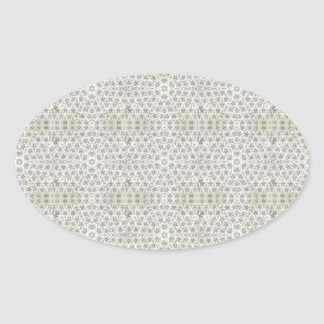 Cream and White grungy pattern Sticker
