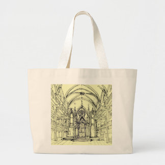 Cream Angel Gothic NYC Canvas Bags
