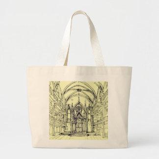 Cream Angel Gothic NYC Canvas Bags