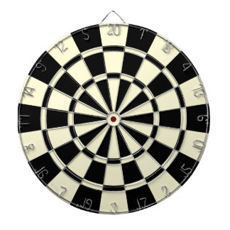 Cream Beige And Black Dartboard