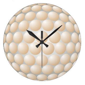 Cream Bubbles Wall Clock