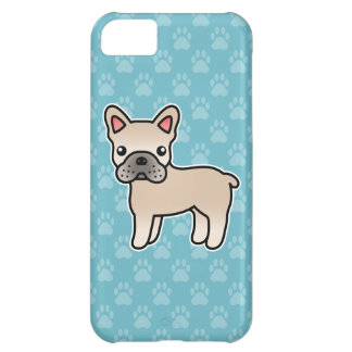 Cream Cartoon French Bulldog iPhone 5C Case