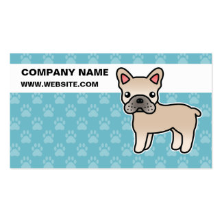 Cream Cartoon French Bulldog Pack Of Standard Business Cards