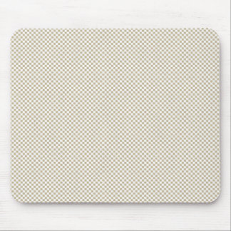 Cream Checker Pattern background Mouse Pad