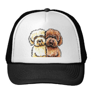 Cream Chocolate Labradoodles Cap