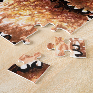 Cream Chocolate Labradoodles Jigsaw Puzzle