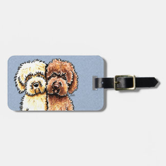 Cream Chocolate Labradoodles Luggage Tag
